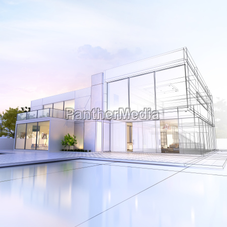 wireframe villa