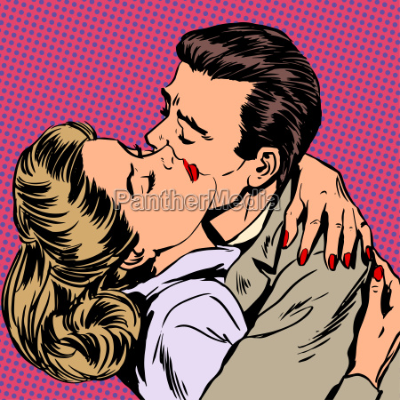 passion man woman embrace love relationship