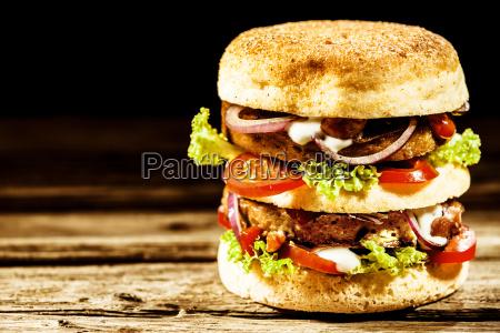 double decker or club freekeh burger