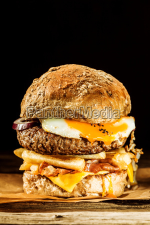 wholesome egg and bacon burger