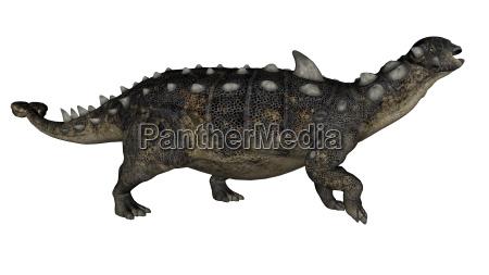 euoplocephalus dinosaur 3d render