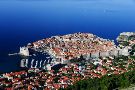 aerial view of dubrovnik croatia