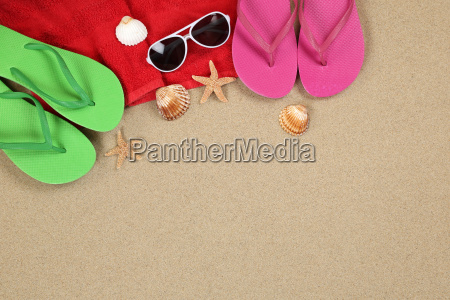 beach scene in summer and holiday