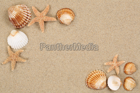 beach scene on holiday summer with