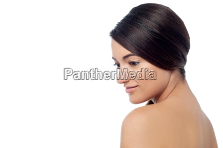 pretty woman with bare shoulders