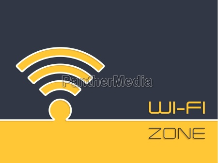wireless connection zone advertising background