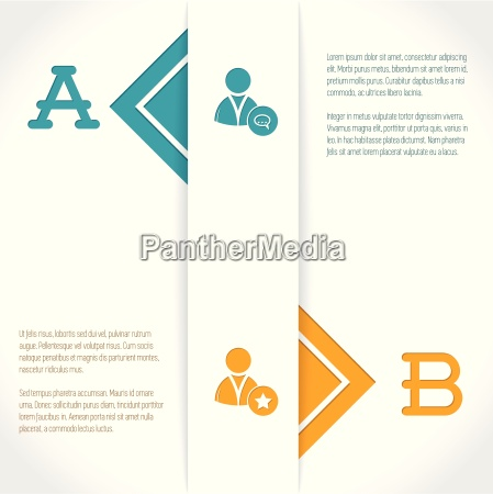 infographic design with options and their
