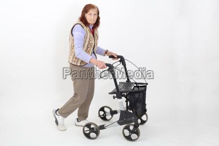 elderly lady with rollator