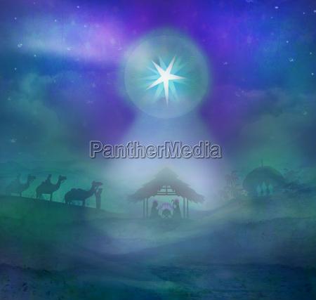 biblical scene birth of jesus