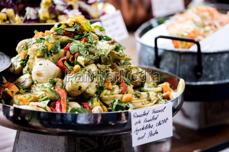 salad buffet with a rich choice