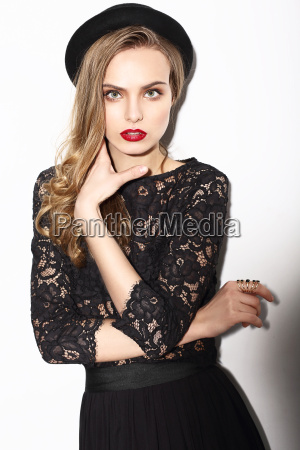 vogue classy fashion model in dark