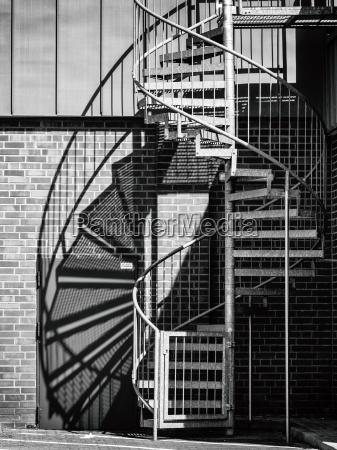 spiral staircase blackwhite