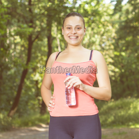 fitness smiling healthy young woman