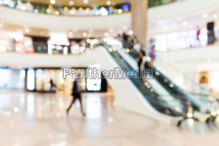 shopping center blurred background