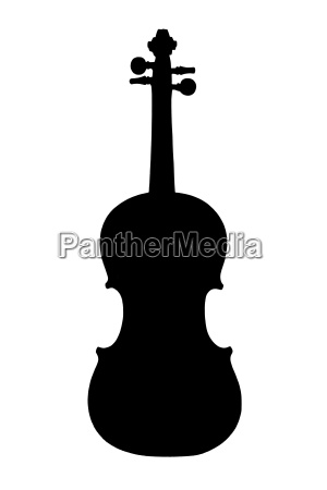silhouette of a violin like an