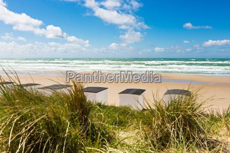 beach houses on the north sea