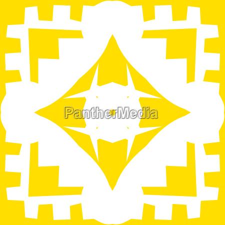 repeating yellow diamond pattern shapes