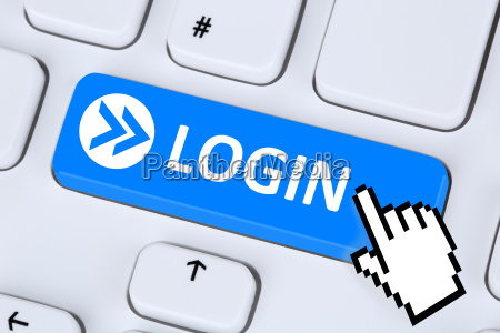 login button with password online on