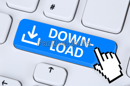 download download program icon on computer
