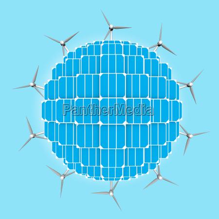 planet solar panels wind turbines generalizing