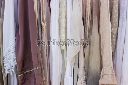 series with different patterned fabrics