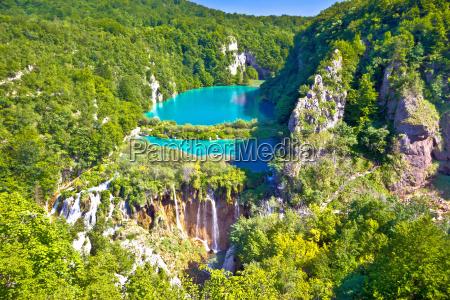 paradise waterfalls of plitvice lakes national