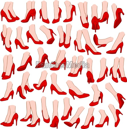 woman feet with red high heel