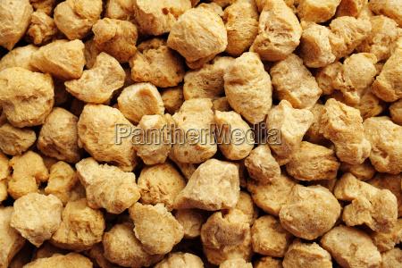 soya protein chunks background