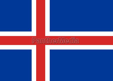 flag of iceland horizontal