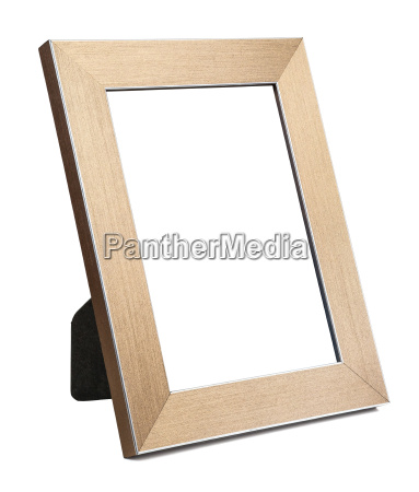 golden empty picture frame