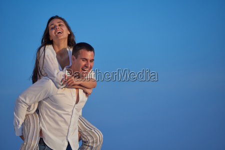 happy, young, romantic, couple, have, fun - 14325517