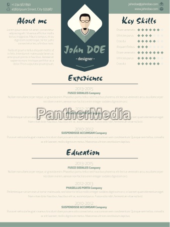 cool new modern resume curriculum vitae