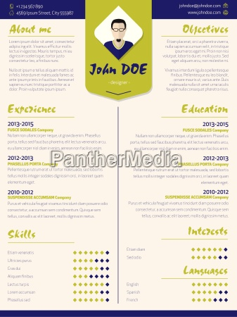 colorful modern resume curriculum vitae template