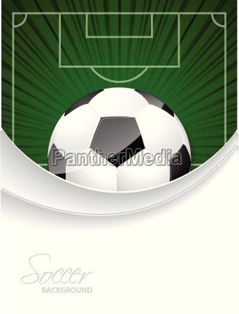 abstract soccer brochure with bursting ball