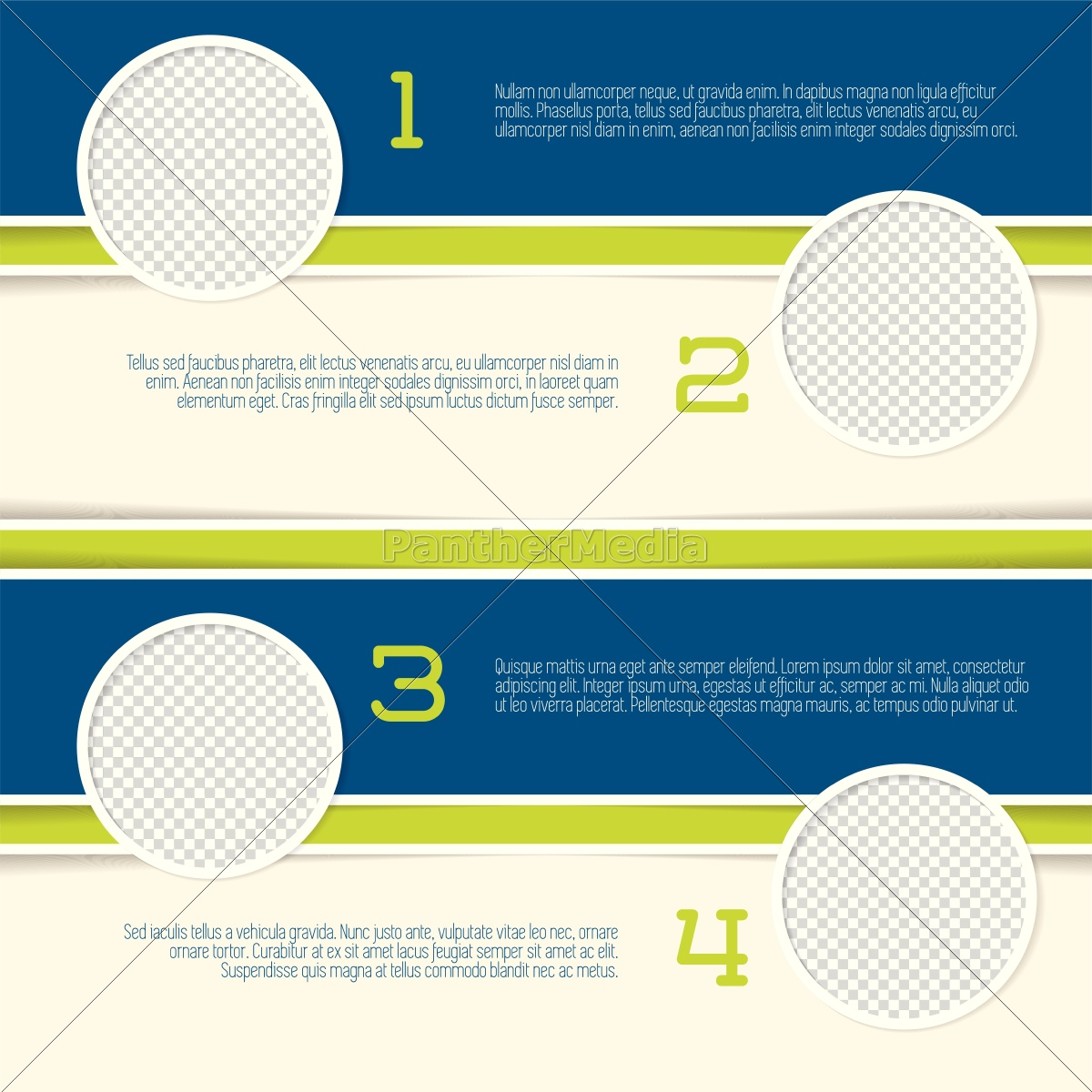infographic, design, with, circle, photo, containers - 14326861