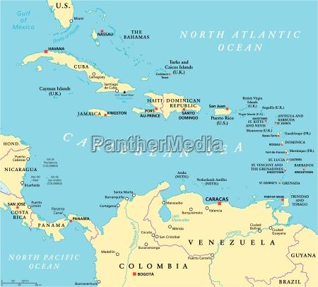 caribbean political map