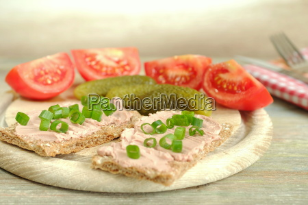 vegetarian vesper plate with tomatoes