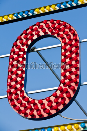 o letter circus neon sign