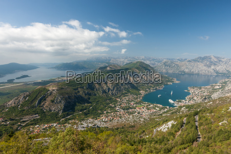 panoramic view on kotor montenegro