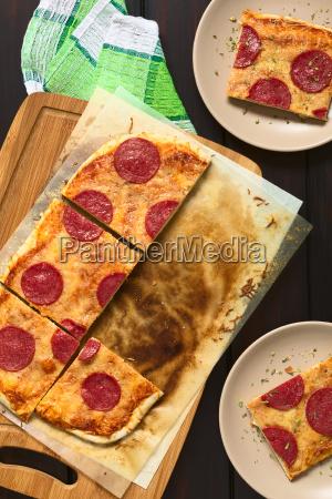 pepperoni or salami pizza