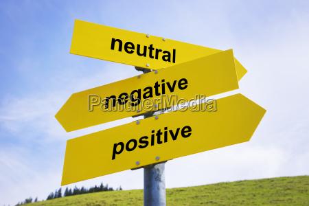 positive negative neutral arrow signs