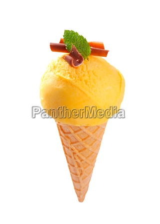 yellow ice cream cone