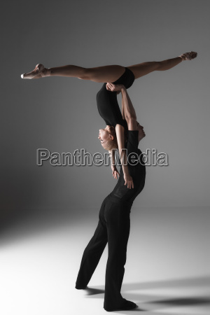 two young modern ballet dancers on