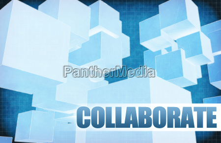 collaborate on futuristic abstract
