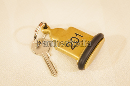 hotel room key with pendant and