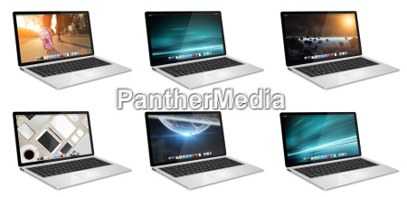 modern digital tech device collection