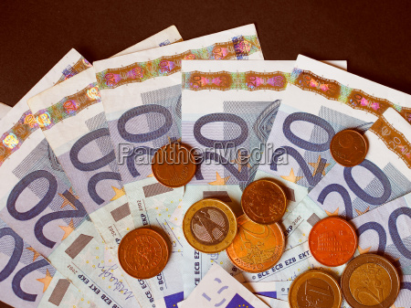 retro look euro bank notes