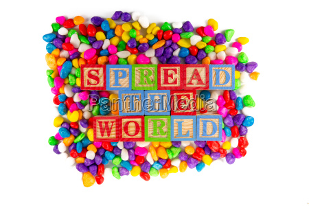 spread the world word in colorful