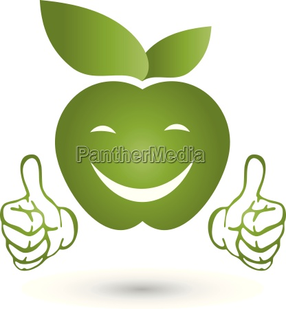 apple with hands logo apple smile