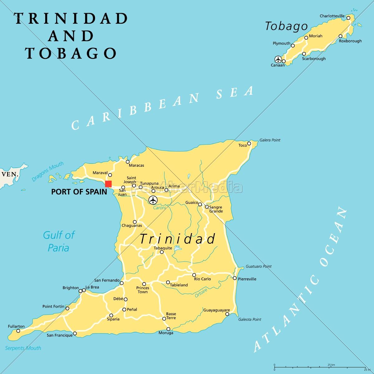 Map Of Spain Political.Royalty Free Vector 14378091 Trinidad And Tobago Political Map